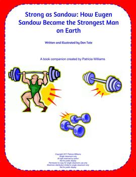 "Book activities for ""Strong as Sandow: How Eugen Sandow Became . . .  on Earth"""