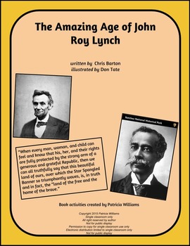 "Book activities for ""The Amazing Age of John Roy Lynch"""
