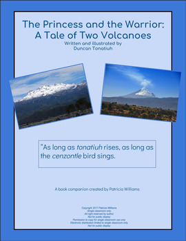 """Book activities for :The Princess and the Warrior: A Tale of Two Volcanoes"""""""