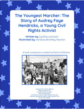 "Book activities for ""The Youngest Marcher: The Story of Audrey Faye Hendricks"""