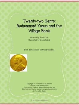 "Book activities for ""Twenty-two Cents: Muhammad Yunus and the Village Bank"""