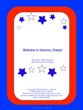 """Book activities for """"Welcome to America, Champ!"""""""