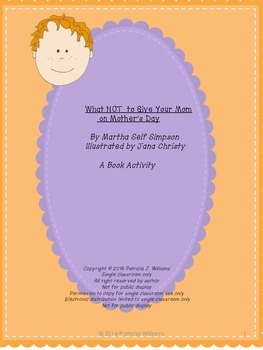 """Book activities for """"What NOT to Give Your Mom on Mother's Day"""""""