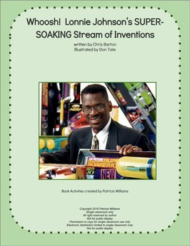 """Book activities for: """"Whoosh! !  Lonnie Johnson's . . . Inventions"""""""