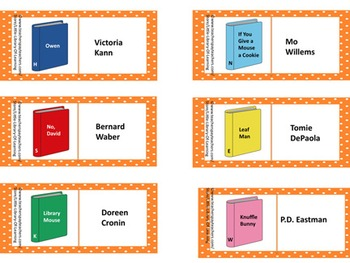 Book and Author Dominoes