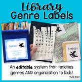 Book and Book Bin Genre Labels
