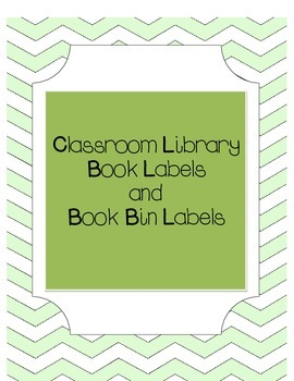 Book and Book Bin Labels for Classroom Library