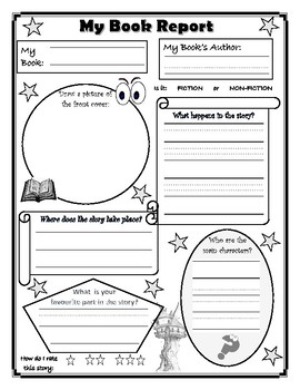Book and Character Report Templates