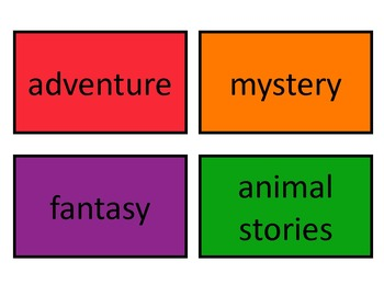 Book and Genre Labels for Classroom Library