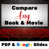 Book vs. Movie Comparison Worksheets