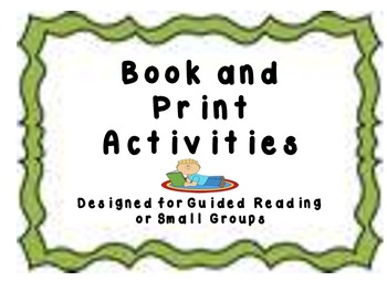 Book and Print Awareness Activities