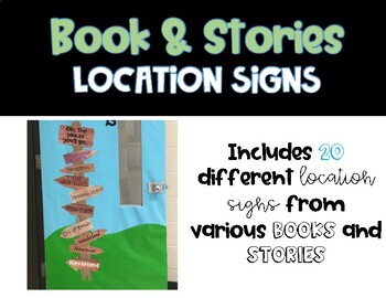 Book and Stories Location Signs - Classroom Sign