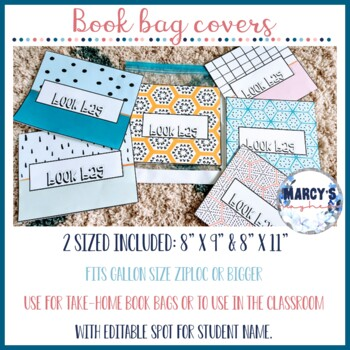 Book bag labels and Classroom Library Covers for K - 5th grade