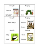 Book basket genre and author labels