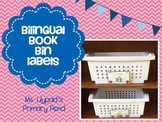 Bilingual Book Bin Labels in English and Spanish
