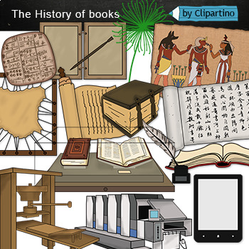 Book clip art-The history of books clipart