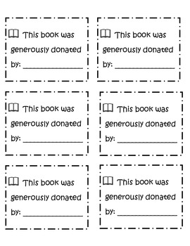 Book donation label