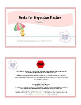 "Book for Preposition Practice ""Under"""