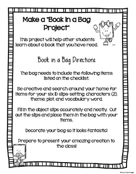 Book in a Bag Book Project