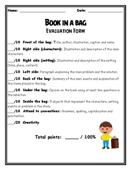 Book in a Bag - Book report