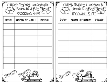 Book in a Bag-Guided Reading Homework