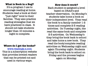 Book in a Bag - Primary Reading Homework