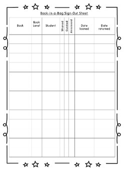 Book-in-a-Bag Reading Tracking Sheet FREEBIE by Bilingual Mingle
