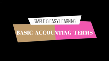 Basic Accounting Terms - Part 1