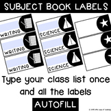 Book labels - editable and autofilled!
