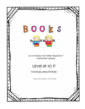 Book list Level M to P