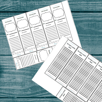 Book mark bundle: Reading log and book review book marks