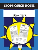 Book mark slope quick notes reference graph linear word problem equation Table