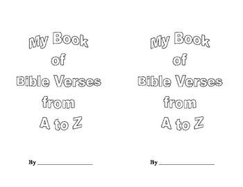 Book of Bible Verses from A to Z