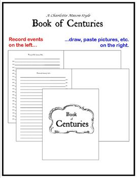 Book of Centuries - Charlotte Mason Traditional Timeline