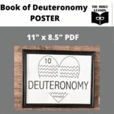 Book of Deuteronomy Bible Class Poster