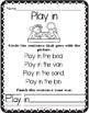 Kindergarten Sight Words in Context