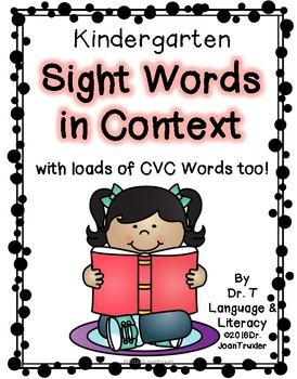 Kindergarten Sight Words in Context