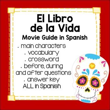 Book of Life Movie Guide in Spanish - Libro de la vida día de los muertos