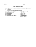 Book of Life Worksheet