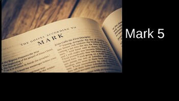 Book of Mark Chapter 5 (Adult Sunday School Lesson