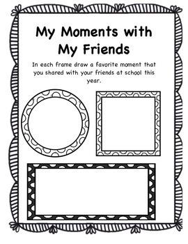 Book of Memories- A Memory Book for Grade 1 & 2 (American Spelling)