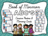 Book of Mormon ABC's Cursive Posters & Memory Cards