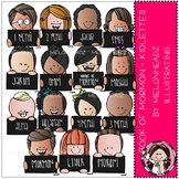 Book of Mormon clip  art - Kidlettes - LDS - COMBO PACK - by Melonheadz