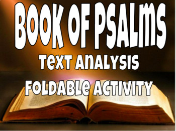 Book of Psalms Foldable Activity
