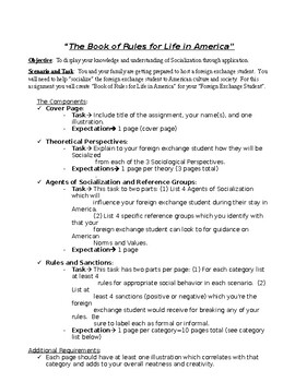 Book of Rules for Life in America Assignment