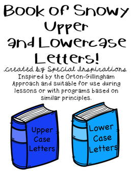 Book of Snowy Upper and Lowercase Letters Sorting Activity