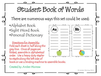 Book of Words: Student Booklet