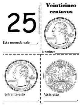 Book of coins/cents Libro de monedas/centavos