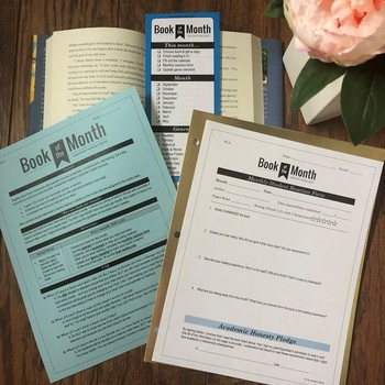 """Independent Reading: """"Book of the Month"""" for High School (Grades 9-10 & 11-12)"""