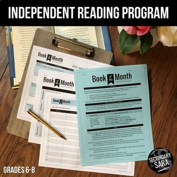 """Independent Reading: """"Book of the Month"""" for Middle School"""